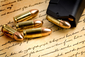 Gun and ammo on the Bill of Rights